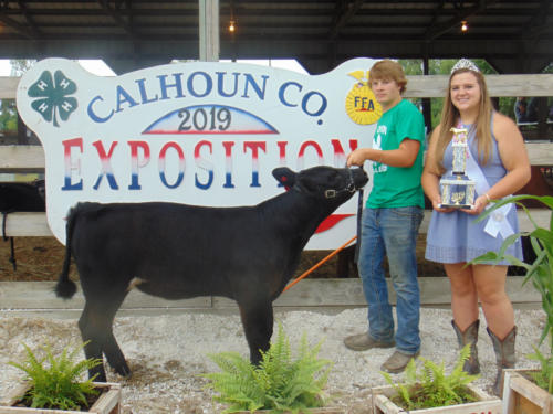 Grand Champion Nursing Calf Tyson Blanchfield