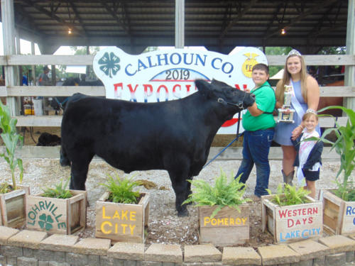 Reserve Champion Market Steer Troy Condon