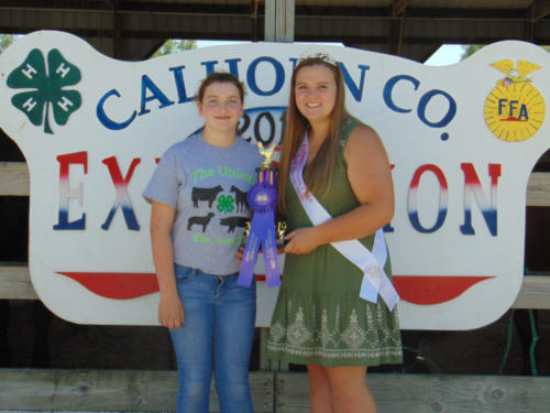 Grand Champion Junior Showmanship Isabella Sackfield